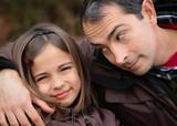affection père et fille poster