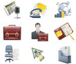 Vector business and office icons