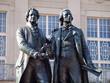 Leinwanddruck Bild - Goethe Schiller Denkmal