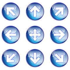 Collection fleche pictos glossy icons web 2.0