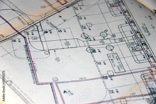 technische Zeichnung Heizung Lüftung Klima - 29510373