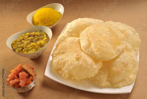 Halwa Puri & Achar