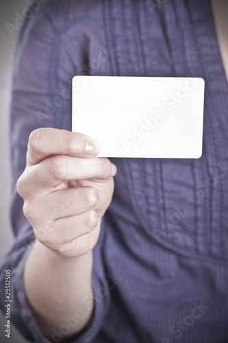 white card in hand