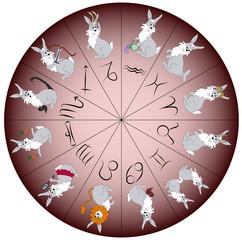 Zodiac sign rabbit