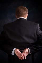 Handcuffed Businessman