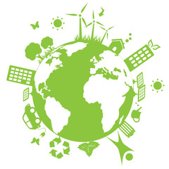Green environmental earth
