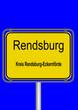Ortsschild Rendsburg