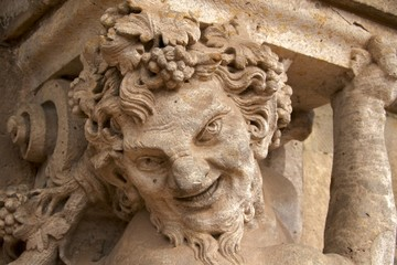 Satyr with grapes on Wallpavillion of Zwinger Palace, Dresden