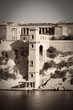 retro photo of Kalkara palace