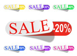 Glossy Retail Sticker Set: Sell And Discount