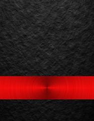 black texture with red circular metal
