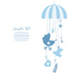 Mobile Baby Symbols Boy Blue