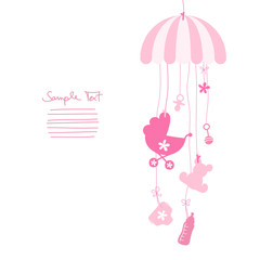 Mobile Baby Symbols Girl Pink