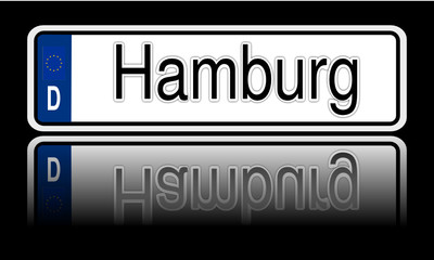 Autokennzeichen Hamburg