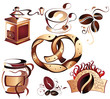 Vector illustration of coffee design elements