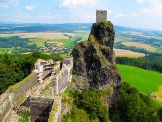 Medieval castle Trosky, Czech Republic, EU.