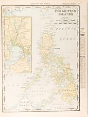 Antique Vintage Color Map of Philippine Islands