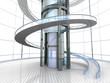 canvas print picture - Futuristische Architektur