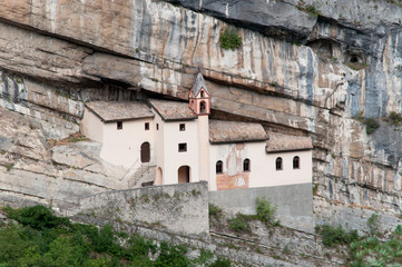Italian chapel in a rock