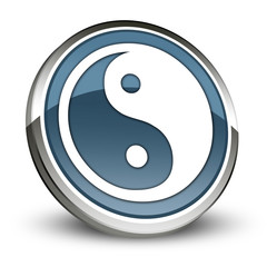 "Dark Blue 3D Style Icon ""Yin and Yang"""