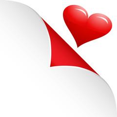 Heart under sticky paper