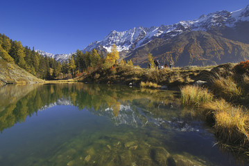 Schwarzsee, Seematte, Lötschental, Wallis, Schweiz, Europa