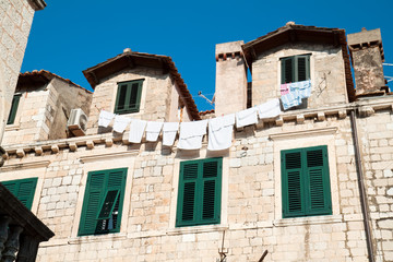 Detail of an old historic house in Dubrovnik