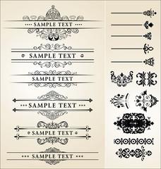 calligraphic design set