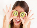 Kiwi fruit woman fun