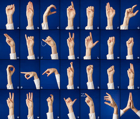Alphabet in sign language