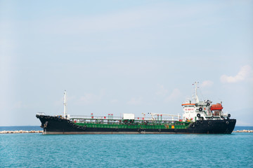 Tanker boat at the sea