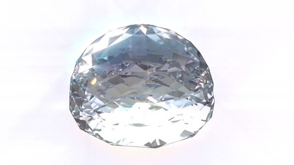 3d rendered isolated spinning diamond with alpha