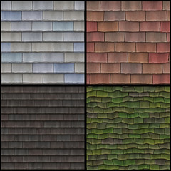 Seamless high resolution  roof collection