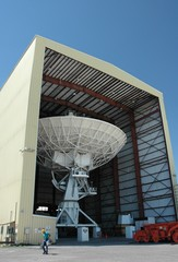 VLA dish in the shop for repairs