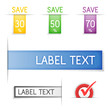 Labels and sticker. Vector.