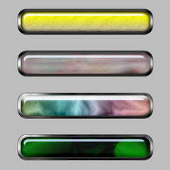 Abstract horizontal banner with color lines
