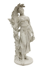 Statue of the Venera or Aphrodite of Melos, isolated on white