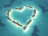 Fototapety heart shaped island