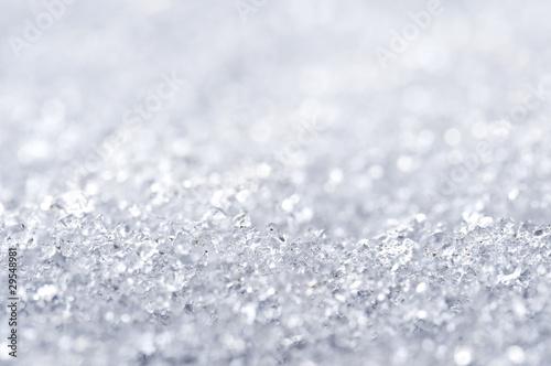 Neige vue de près