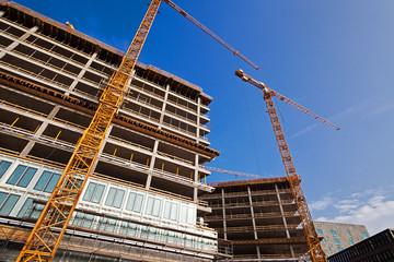 Baustelle Bürogebäude, Hamburg