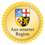 siegel button medallie aus unserer region saarland