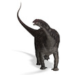 Dinosaur Diamantinasaurus. 3D rendering with clipping path and