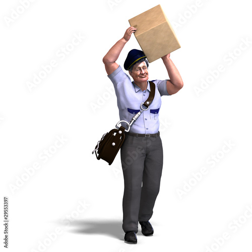 the mailman hands you a very heavy packet. 3D rendering with