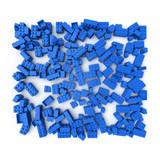 lego block blue poster
