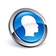 icône bouton internet homme tête