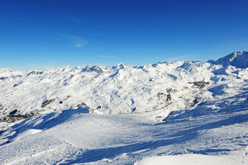 Val Thorens and Les Menuires from the top of La Masse