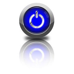 Power Button rund