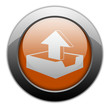 "Orange Metallic Orb Button ""Upload"""