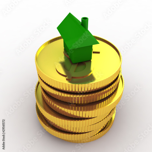 Green house on coins