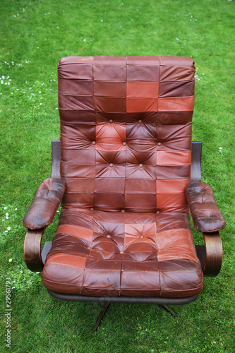 leather armchair retro